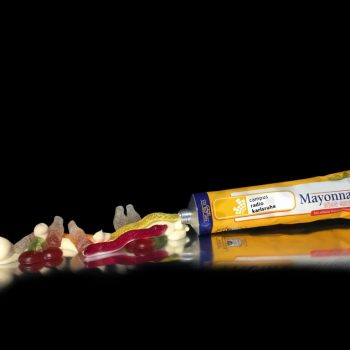 Mayonnaise-Tube süß-sauer