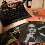 Schreibmaschine und Schallplatten